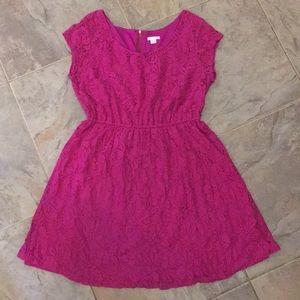 Fuchsia Lace Overlay Dress/Tunic